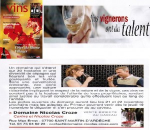 Special vin Tribune